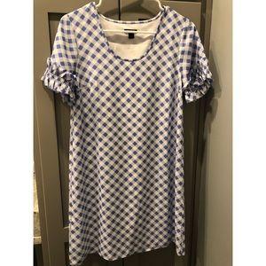 ANN TAYLOR Petite Size 2 GINGHAM DRESS
